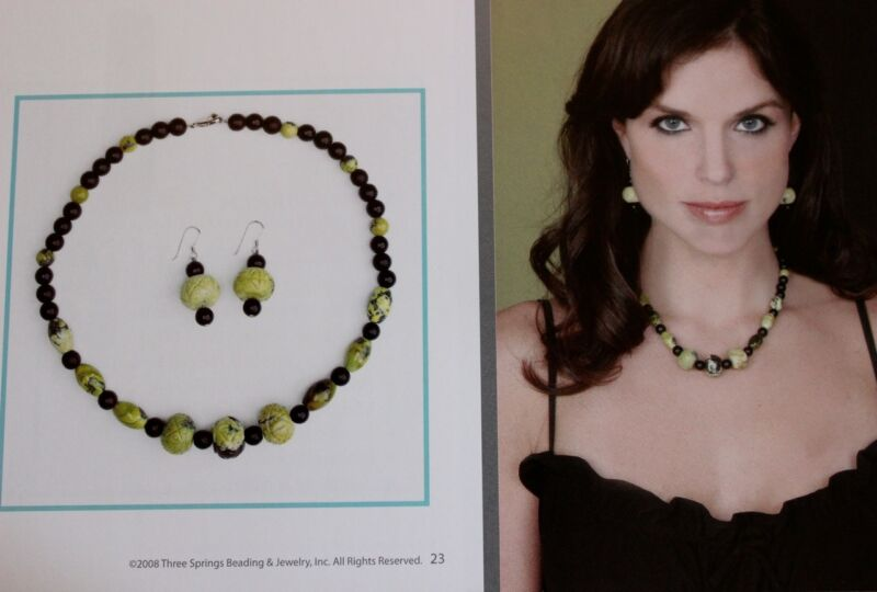 "Statement Necklace Kit Katmandu 18"" Howlite  St Silver QVC FREE SHIP"