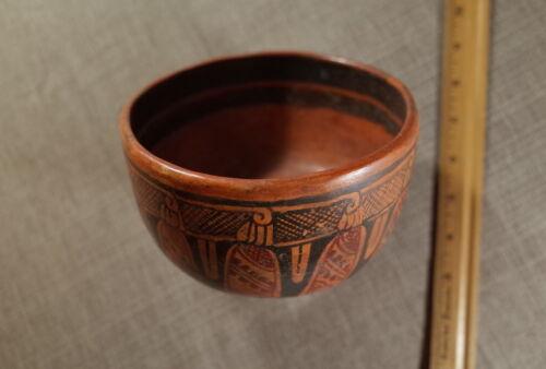 PreColumbian MesoAmerican Shamanic Ceramic Bowl with Mushroom Motif