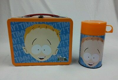 2001 SOUTH PARK TIMMY METAL LUNCH BOX AND THERMOS SET COLLECTIBLE NECA BOX