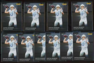 2020 Panini Instant #RS3 Justin Herbert 1/1155 RC Rookie Lot of 10