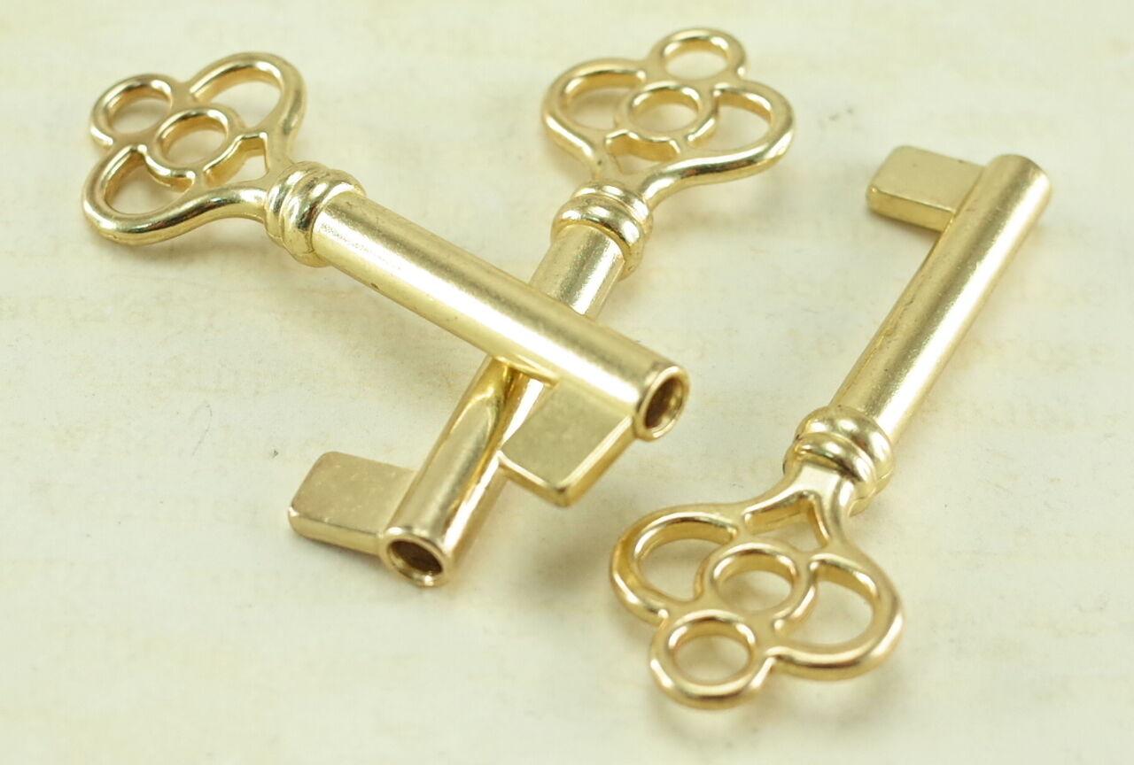 Antique Style Open Barrel Skeleton Key Furniture Cabinet -Brass ...