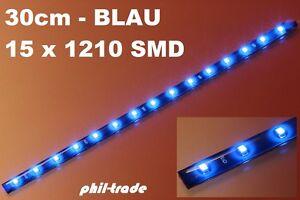 LED- Leiste Stripe Streifen 12V blau 30cm -15 x 1210 SMD- selbstklebend