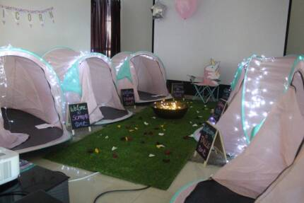 Unicorn Themed Camping Party Sleepover Hire