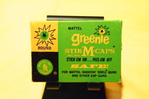 TWO NOS ORIGINAL *UNOPENED 1958 MATTEL GREENIE STIK-M CAPS BOXES