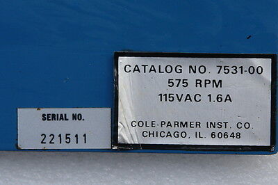 Cole Parmer Replacement Motorgearbox 3000 Rpm 7531-00