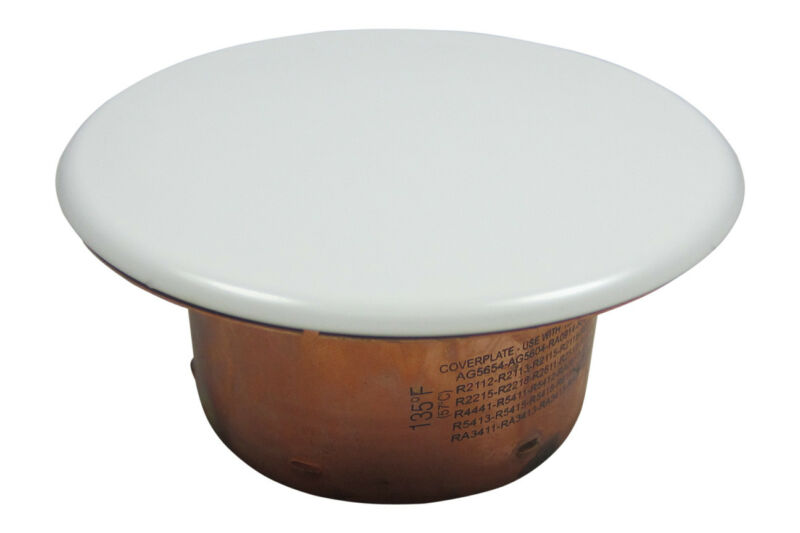 Reliable (Rasco) White Cover Plate (165F) for G4/G5 Fire Sprinklers