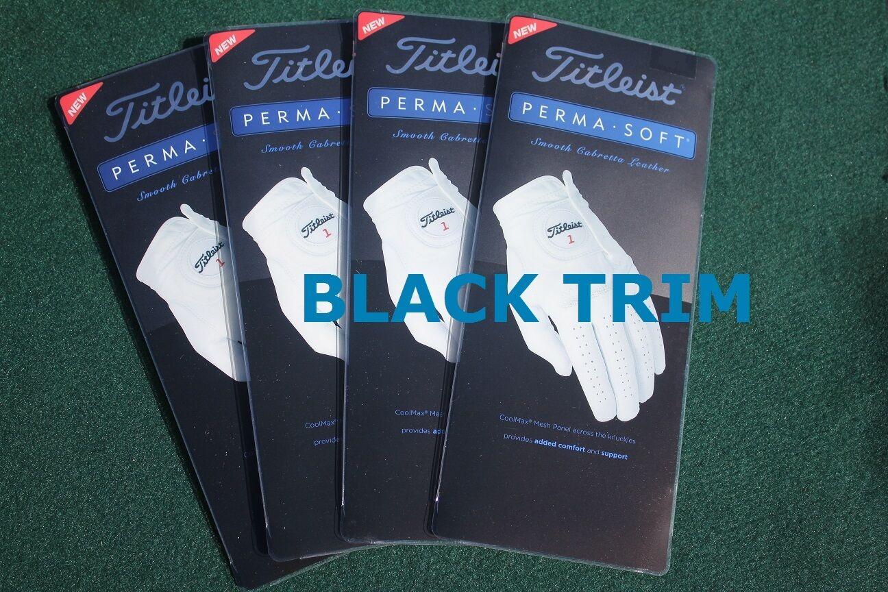 Mens gloves cadet - Titleist Golf Gloves 4 New Titleist 2016 Perma Soft Golf Gloves Mens Cadet Large W Black Trim