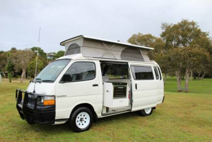 Toyota Hiace 2.8L Diesel Campervan with Hot Water Tweed Heads South Tweed Heads Area Preview