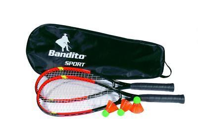 Speed Badminton Set - 2 Schläger, Tasche und 3 Bälle