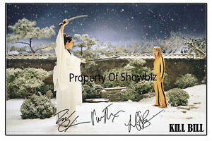 KILL-BILL-LARGE-AUTOGRAPHED-SIGNED-PHOTO-POSTER-PRINT-LUCY-LIU-UMA-THURMAN