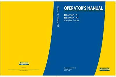 New Holland Boomer 41 And Boomer 47 Compact Tractor Without A Cab Operators Man
