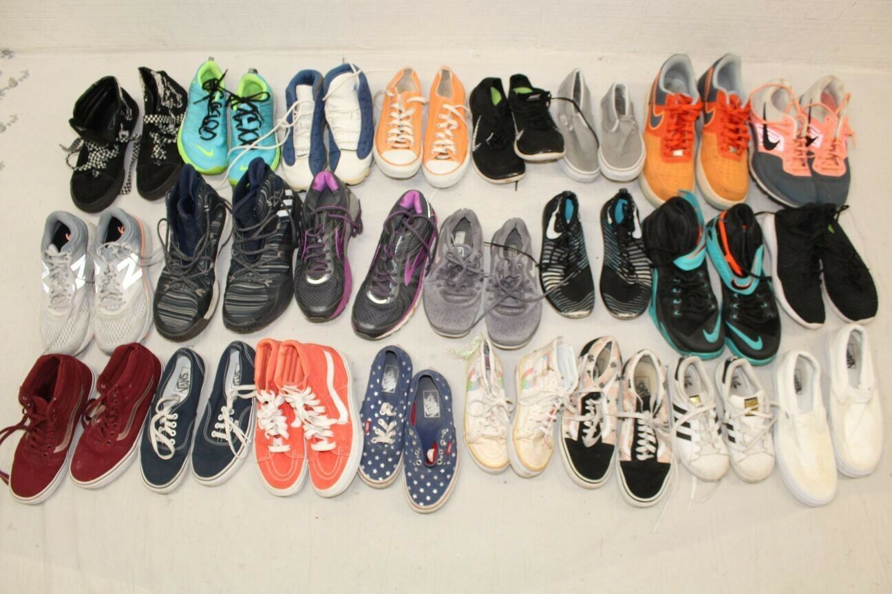 Sport Shoes Lot Wholesale Used Rehab Resale Nike Vans 34 POUND COLLECTION