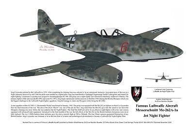 Me-262, Artwork signed by the Pilot! Aviation Art, Ernie Boyette