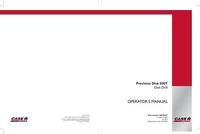 Case Ih Precision Disk 500t Disk Drill Operators Manual