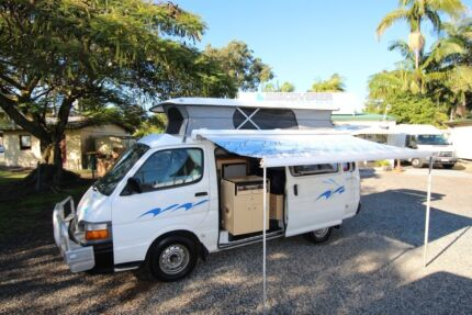 Toyota Hiace Twin Bed Campervan, dual fuel, great condition Tweed Heads South Tweed Heads Area Preview