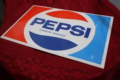Reklameschild  Blechschild PEPSI Cola 70er Jahre