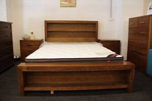 Library Solid Hardwood King Size Bed Frame(Suite available) Nunawading Whitehorse Area Preview