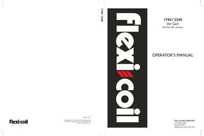 Flexi Coil 1740 - 2340 Air Cart Operators Manual Operators Manual