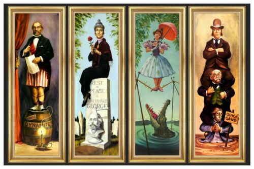 HAUNTED MANSION STRETCHING ROOM ALL 4 SCENES ON 1 POSTER -  (B2G1 FREE!)