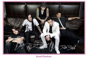 GOOD CHARLOTTE - AUTOGRAPHED SIGNED POSTER  - GREAT PIECE OF MEMORABILIA