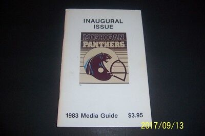 1983 Michigan Panthers Media Guide Yearbook Anthony Carter Bobby Hebert 1St Year