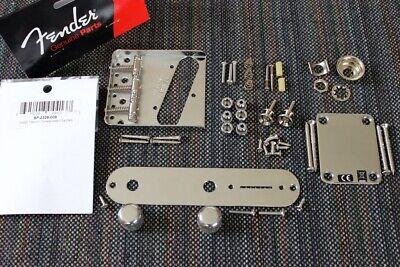 Body Hardware Set - Fender Telecaster Chrome Body Hardware Set w/ Gotoh Titanium Compensated Saddles