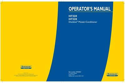 New Holland H7220 H7320 Discbine Mower-conditioner Operators Manual