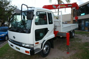 1997 MK211 NISSAN CONDOR WITH 4 STAGE UNIC 340K RUNNING ROPE CRANE. 6.9 LITRE DIESEL ENGINE Arundel Gold Coast City Preview