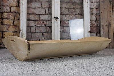 Bäckermolle Fleischermolle Holzmolle Backtrog Trog Pflanzgefäß L99B50H15cm