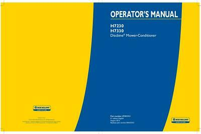 New Holland H7230 H7330 Discbine Mower-conditioner Operators Manual