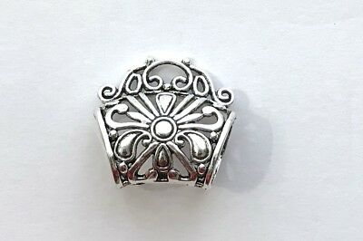 New Flower Scarf Bail Ring Pendant Charm Slide tube necklace bails jewelry wraps