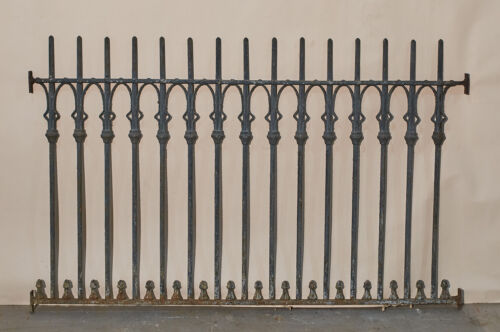 Antique Vintage Wrought Iron Fence Section