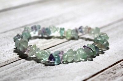 Fluorite Gemstone Bracelet REIKI Charged for YOU Stress Focus Students School](Student Stress)