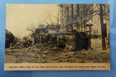 Dayton, Ohio - Interurban Car Wreck - Accident Postcard