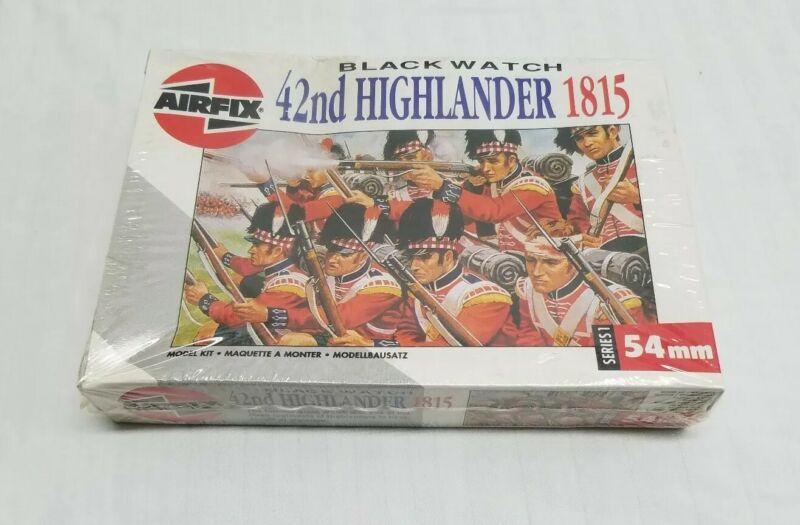 Vintage Airfix Black Watch 42nd Highlander 1815 54mm Model Kit 01552