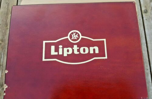 VERY RARE Lipton wooden tea box  size 11