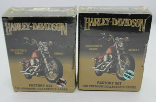 Harley-Davidson Collector Cards Series One Factory Set 100 Sealed 1992 Lot of 2