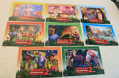 CLOUDY WITH A CHANCE OF MEATBALLS 2 Complete Lobby Card Set Animation LCS