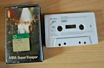 ABBA ~ SUPER TROUPER 1980 CASSETTE TAPE ALBUM ~ Epic ECO 40-10022 Free Post