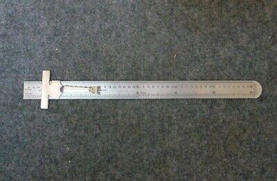 Vintage Guco 1532 Stainless Steel 6 Sliding Clip Is Depth Gauge Pocket Rule Usa