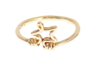 NEW NIALAYA Ring Authentic Womens Star Gold 925 Silver s. US7 / EU55