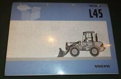 Volvo L45 Wheel Loader Parts Manual Book Catalog