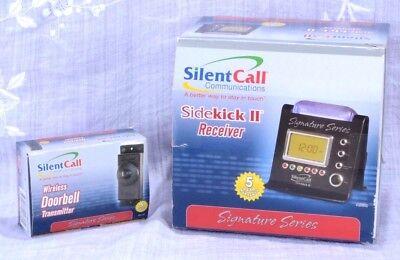 Silent Call Sidekick II Receiver Bed Vibrator Wireless Doorbell & Transmitter