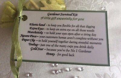Thank you Christmas gift for Gardener birthday gift idea for gents males men ()