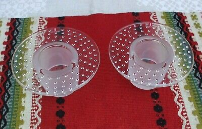 iittala of FINLAND, votive candle holder pair, labels attached, frosted base