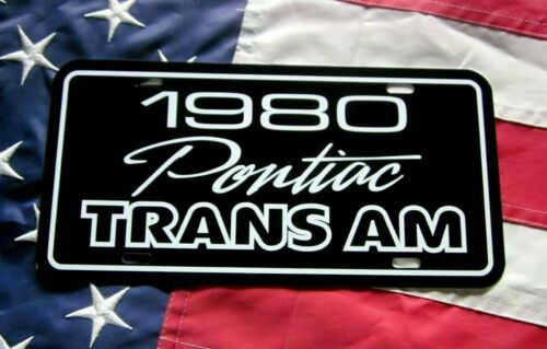 1980  Pontiac Trans Am  License plate tag 80 Firebird T/A