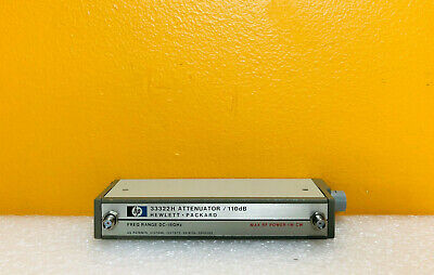 Hp Agilent 33322h Dc -18 Ghz 110 Db Sma Programmable Step Attenuator. Tested