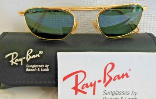 VINTAGE New Old Stock RAY BAN B&L SUNGLASSES ARISTA CLASSIC Gold Wire W2001