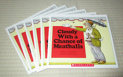 Cloudy With A Chance Of Meatballs Judi Barrett (Set of 6, Level M) NEW (Cloudy With A Chance Of Meatballs Illustrations)