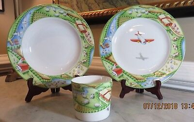 Tiffany & Company Farm Child's Fine Bone China - Plates, Bowls and Cups 3-pc Set - Farm Plates
